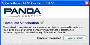 Panda USB and AutoRun Vaccine Ekran Görüntüsü
