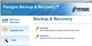 Paragon Backup & Recovery Ekran Görüntüsü
