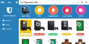 Playstation Cafe Yönetim Programı Ekran Görüntüsü