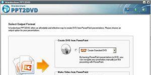 PowerPoint to DVD Ekran Görüntüsü
