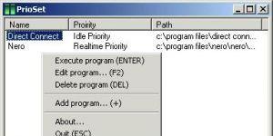 PrioSet Ekran Görüntüsü