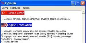 pysözlük Türkçe-İngilizce-Almanca Sözlük Ekran Görüntüsü