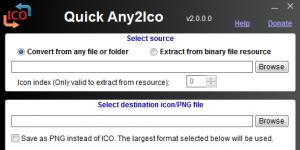 Quick Any2Ico Ekran Görüntüsü