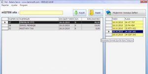 Rot-Balans Servis ve Müşteri Takip Ekran Görüntüsü