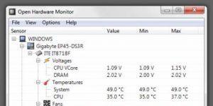 Open Hardware Monitor Ekran Görüntüsü