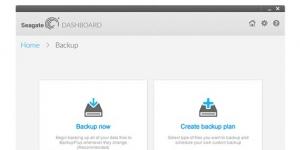 Seagate Dashboard Ekran Görüntüsü