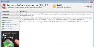 Secunia Personal Software Inspector Ekran Görüntüsü