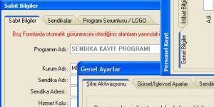 Sendika Kayıt Programı Ekran Görüntüsü