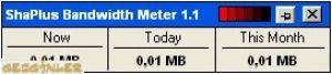ShaPlus Bandwidth Meter Ekran Görüntüsü