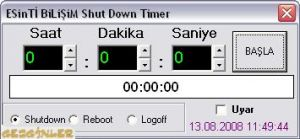 ShutDown Timer Ekran Görüntüsü