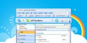 Skype E-posta Araç Çubuğu Ekran Görüntüsü