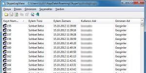 Skype Log Viewer Ekran Görüntüsü
