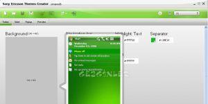 Sony Ericsson Themes Creator Ekran Görüntüsü
