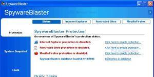 SpywareBlaster Ekran Görüntüsü