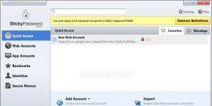 Sticky Password Free Ekran Görüntüsü