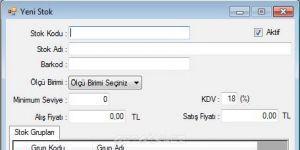 stokprogrami.net Stok Takip Programi Ekran Görüntüsü
