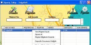 Su - Tüp Takip Programı Ekran Görüntüsü
