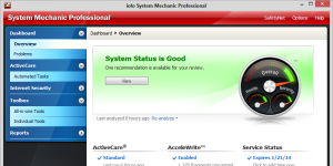 System Mechanic Professional Ekran Görüntüsü