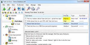Task List Guru Ekran Görüntüsü