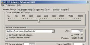 TCP Optimizer Ekran Görüntüsü