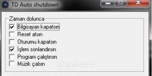 TD Auto shutdown Ekran Görüntüsü