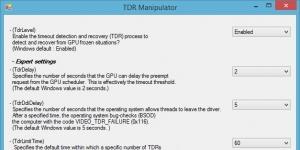 TDR Manipulator Ekran Görüntüsü