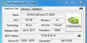 GPU-Z Ekran Görüntüsü