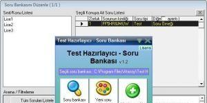 Test Haz�rlay�c� Soru Bankas� Ekran G�r�nt�s�