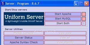 The Uniform Server Ekran Görüntüsü