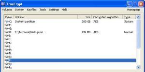 TrueCrypt Ekran Görüntüsü