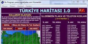 Türkiye Haritası Ekran Görüntüsü