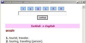 Turkish Dictionary Ekran Görüntüsü