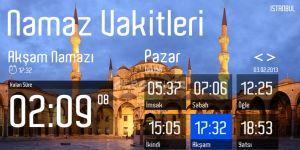 Türkiye Namaz Vakitleri Ekran Görüntüsü