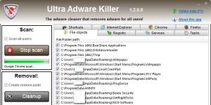 Ultra Adware Killer Ekran Görüntüsü
