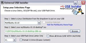 Universal USB Installer Ekran Görüntüsü
