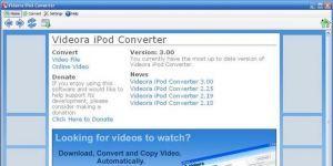 Videora iPod Converter Ekran Görüntüsü