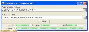 VOB2MPG Ekran Görüntüsü