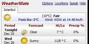 WeatherMate Ekran Görüntüsü