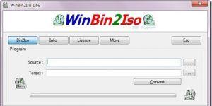 WinBin2Iso Ekran Görüntüsü