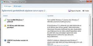 Windows 7 Yükseltme Danışmanı Ekran Görüntüsü