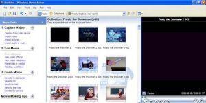 Windows XP Windows Movie Maker Ekran Görüntüsü