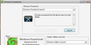 Windows Powertools Ekran Görüntüsü