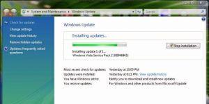 Windows Vista Service Pack 2 Ekran Görüntüsü
