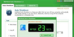 WinMend Auto Shutdown Ekran Görüntüsü