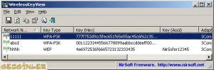 WirelessKeyView Ekran Görüntüsü