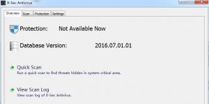 X-Sec Antivirus Ekran Görüntüsü