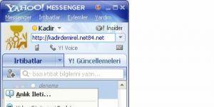Yahoo! Messenger T�rk�e Yama Ekran G�r�nt�s�
