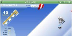 YetiSports 7 - Snowboard Free Ride Ekran Görüntüsü