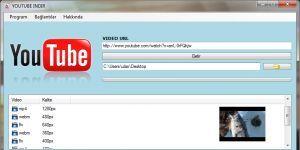 Youtube �ndir Ekran G�r�nt�s�