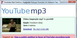 Youtube Mp3 �ndirici Ekran G�r�nt�s�